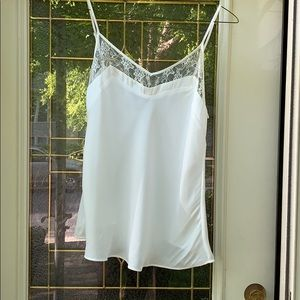 White, Lace Trimmed Camisole by MNG